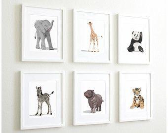 Zoo Animal Nursery Prints Safari Decor By Paperllamas