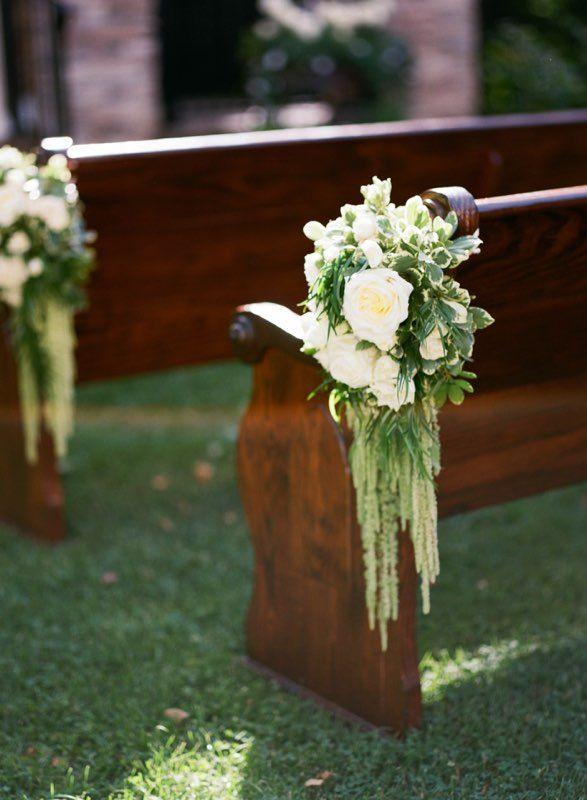 Wedding Ceremony Flowers Pew Flowers Outdoor Wedding Chair