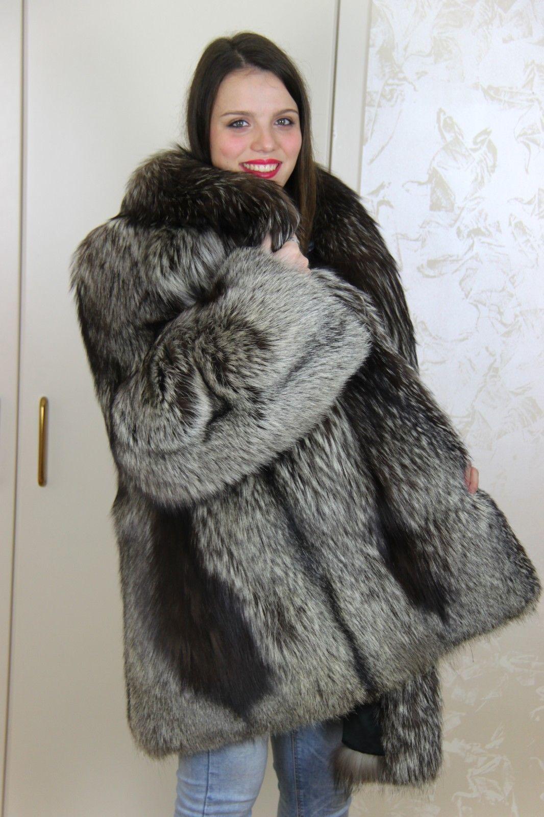 quality design 28637 12ca4 Silberfuchs silver fox coat pelliccia volpe fourrure silber ...