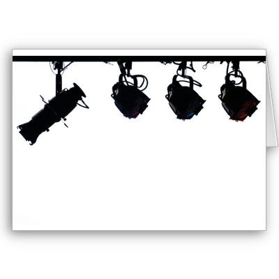 Black Stage Light Silhouettes Digital Camera Greeting Cards by VoXeeD