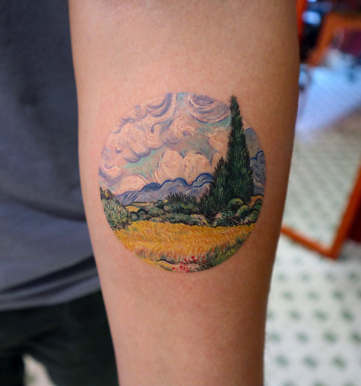 Photo of Perfectly Round Tattoos by Eva Encompass Miniature Worlds Inspired by Art History