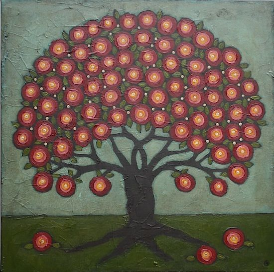 Blossoming Folk Art Tree