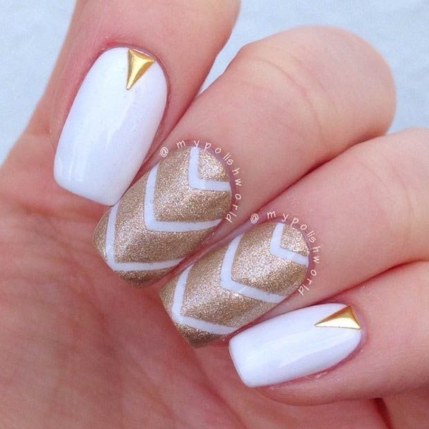 50 Best Nail Art Designs from Instagram | Gold nail, Gold and Make up