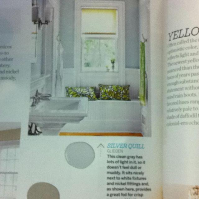 Glidden Bathroom Paint: Silver Quill By Glidden