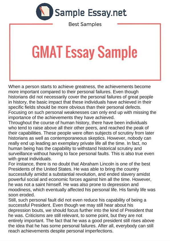 gmat awa sample essays