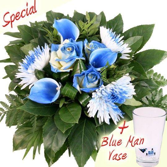Blumenstrauß Blue Man Group Special