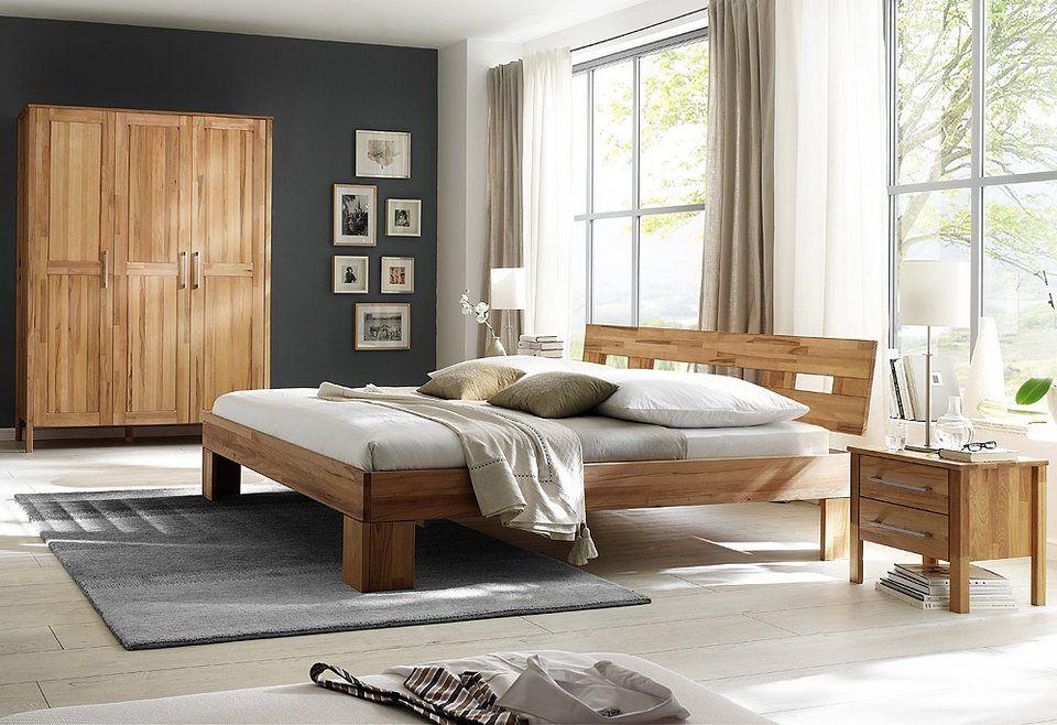 Home affaire, Schlafzimmer-Set (4-tlg), »Modesty I« mit 3-türigem - schlafzimmer kiefer massiv