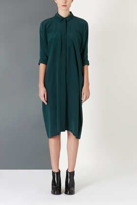 cheap price fashion yet not vulgar Midi Silk Shirt Dress by Boutique | STYLE | Silk shirt dress ...