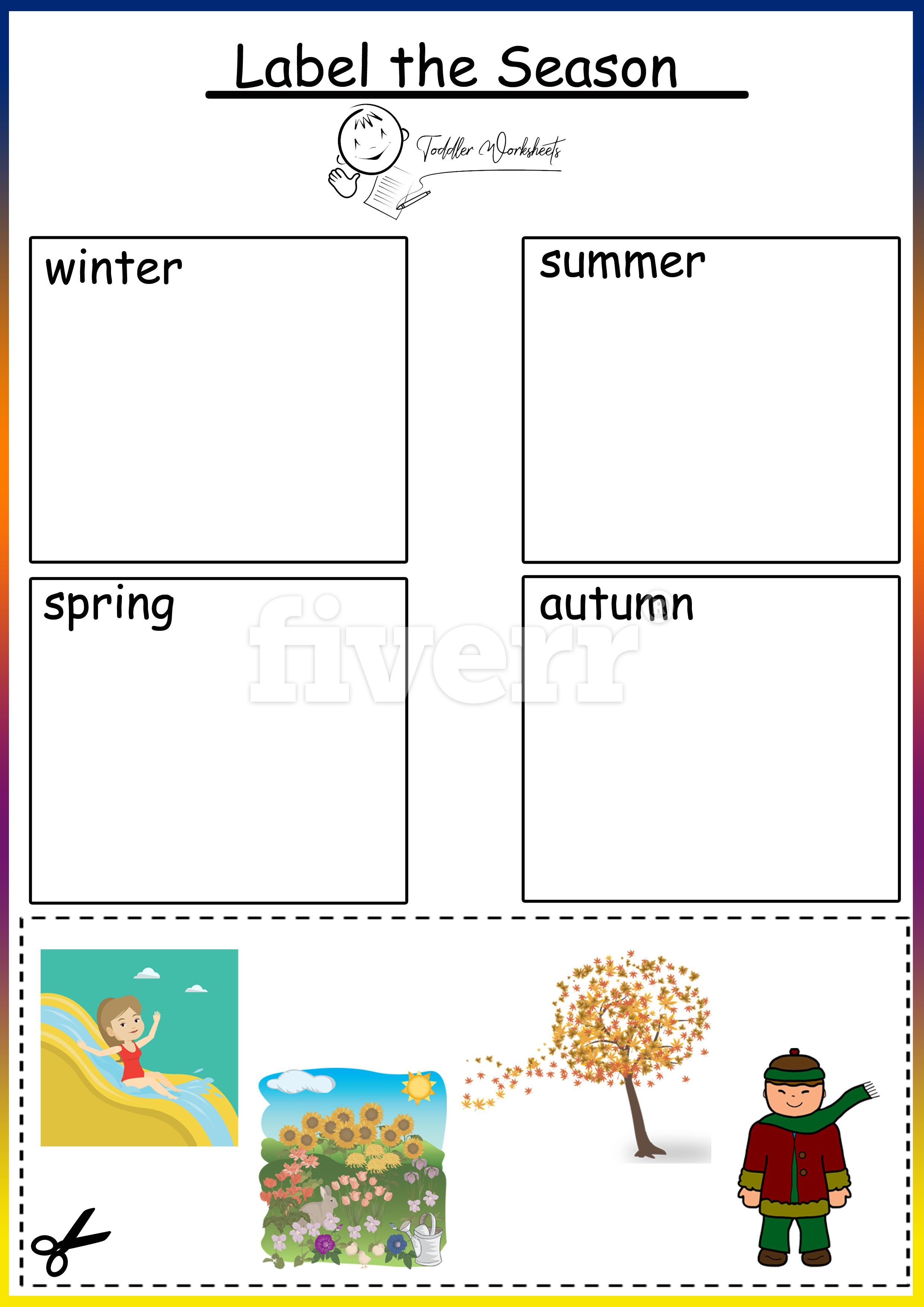 Preschool Free Worksheers Seasons