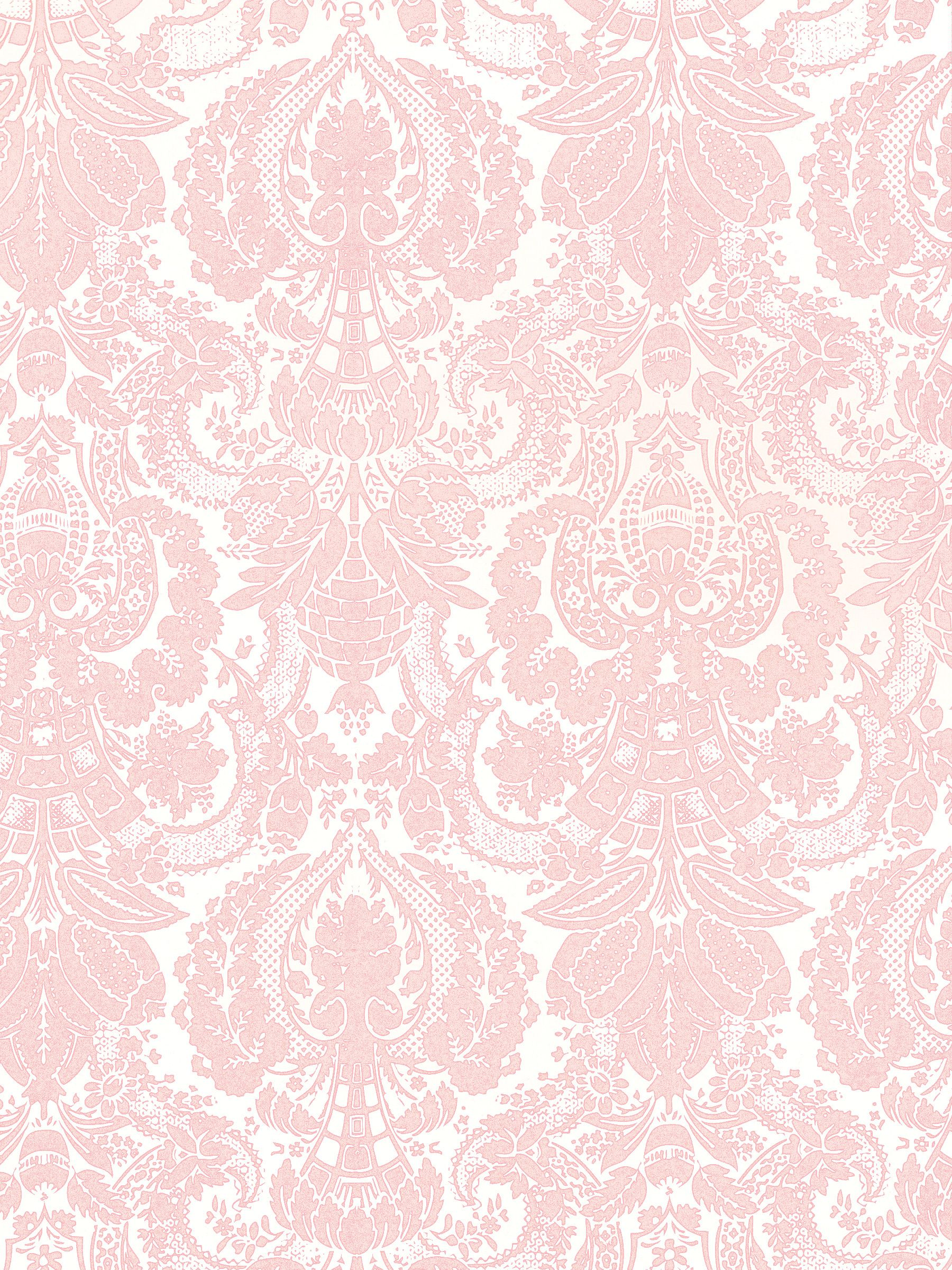 Pink damask background yo pinterest patrones fondos y papel - Pastel lace wallpaper ...