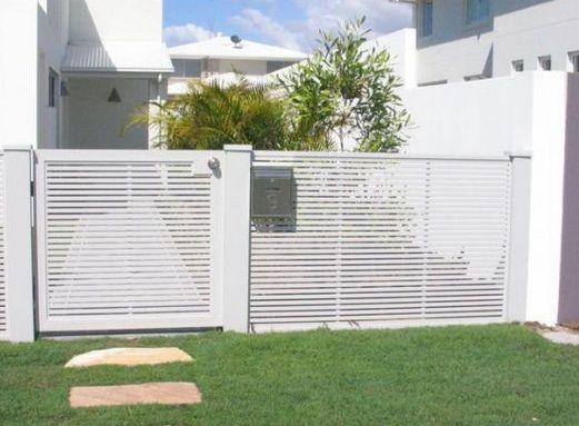 Modern White Fence Bardas De Casas Rejas Para Casas Puertas