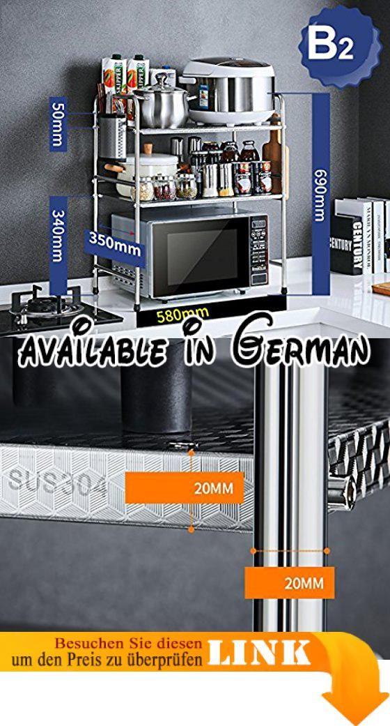 B078X9SJJL  Küchenwagen 304 Edelstahl-Küchen-Zahnstangen - armatur küche ausziehbar