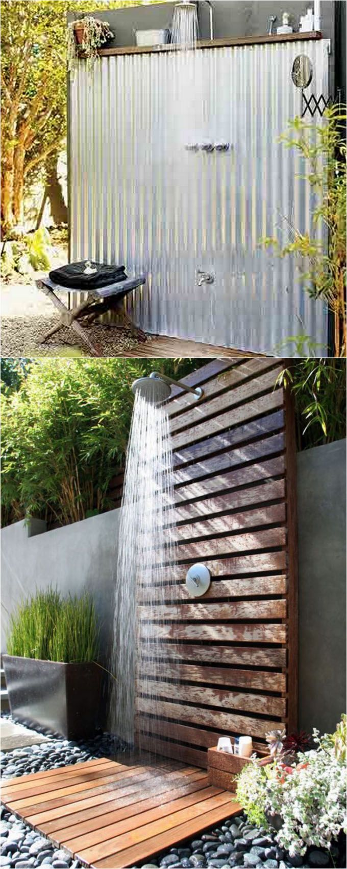 Nice Simple Outdoor Shower Ideas Part - 9: 32 Inspiring DIY Outdoor Showers: Lots Of Ideas On How To Build Enclosures  With Simple