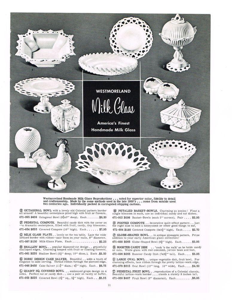 Milk Glass Floral Basket Design Lace Design Compote Candy Pedestal Dish