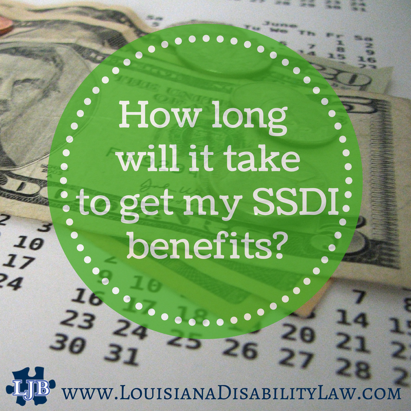 How long does it take to get ssdi benefits after i am