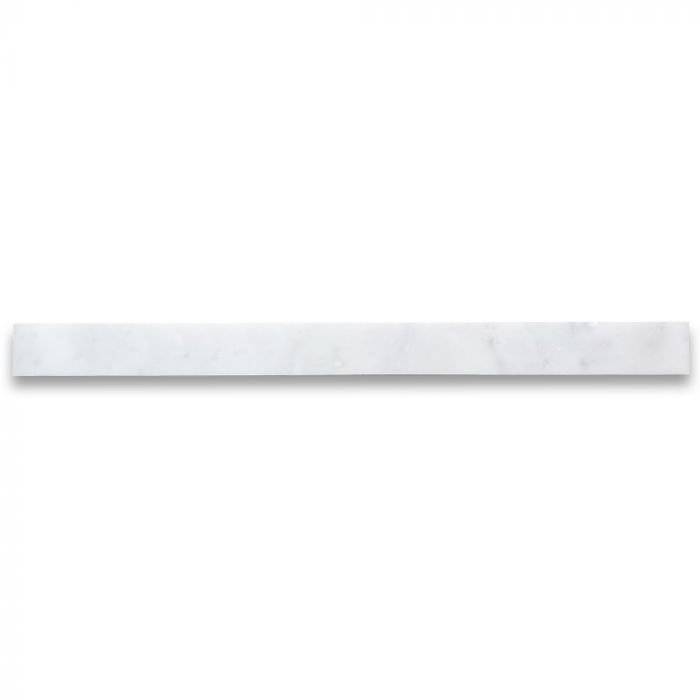 Carrara White Marble Border Strip Liner 1x12 Tile Polished