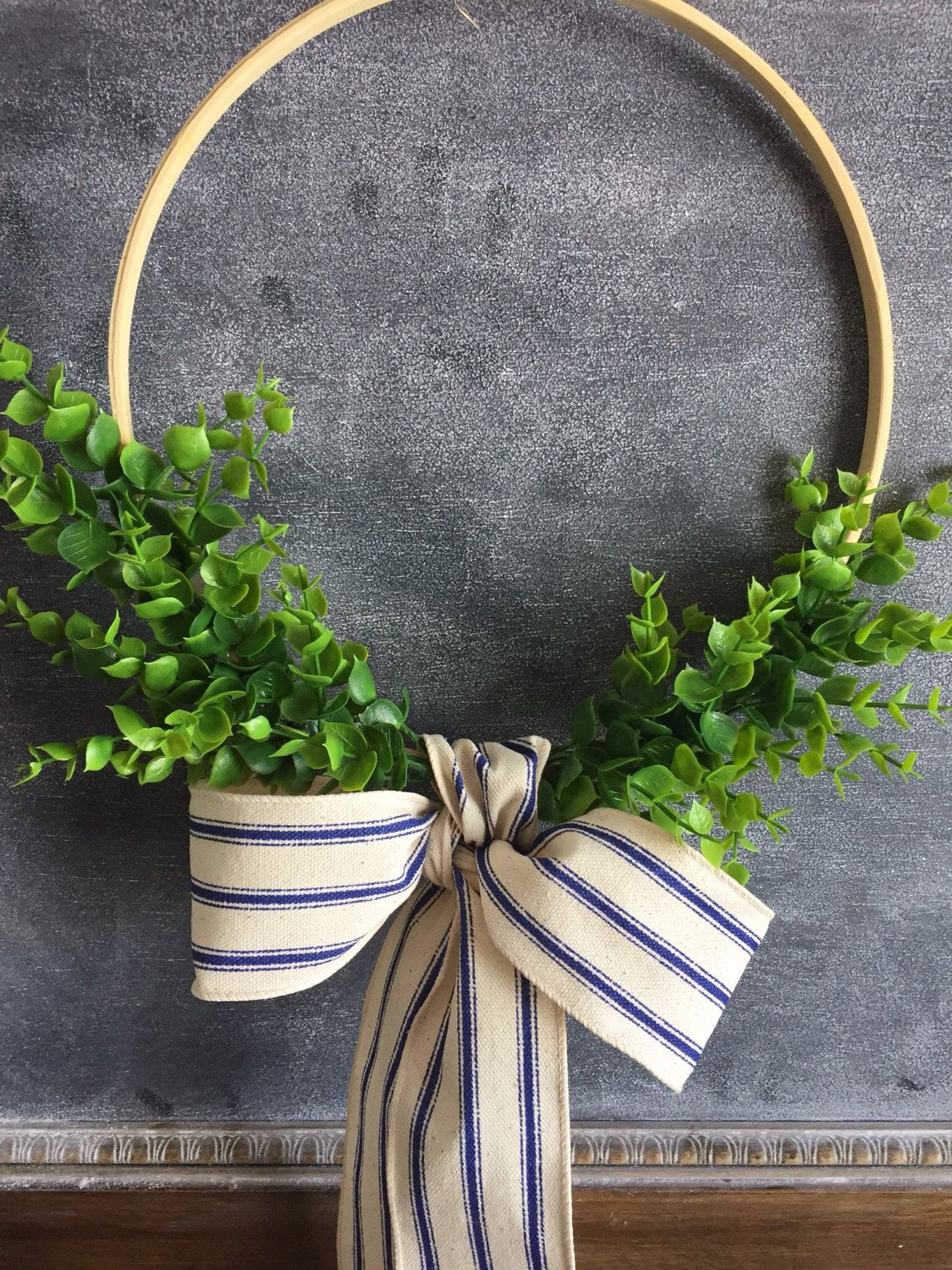 Large Laurel Wreath Handmade Using Artificial Boxwood Adhered To A