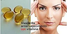 Mascarilla antienvejecimiento para la piel con vitamina E, ¡no te lo pierdas!