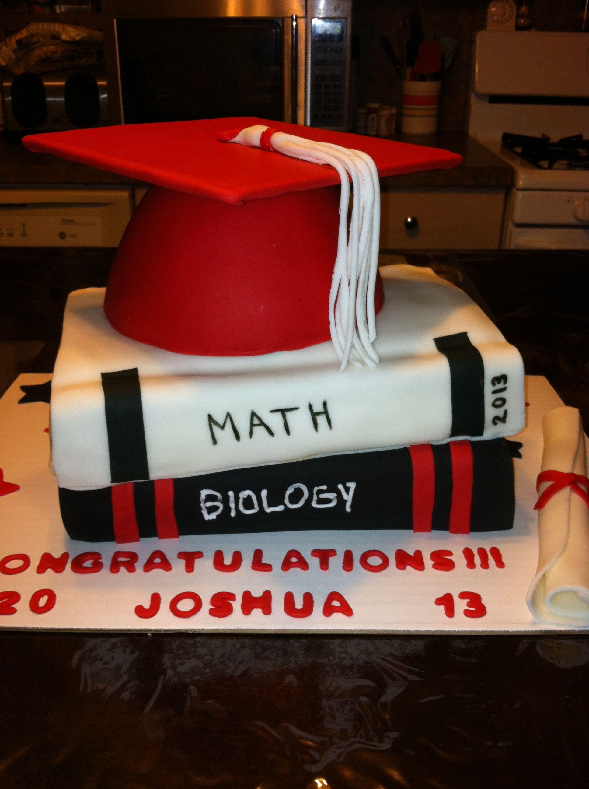 Graduation cake i made for my nephew graduation cakes