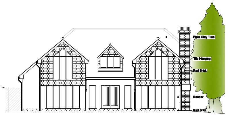 Timber Frame House Kit 04 Front Elevation | Bungalow Remodel ...