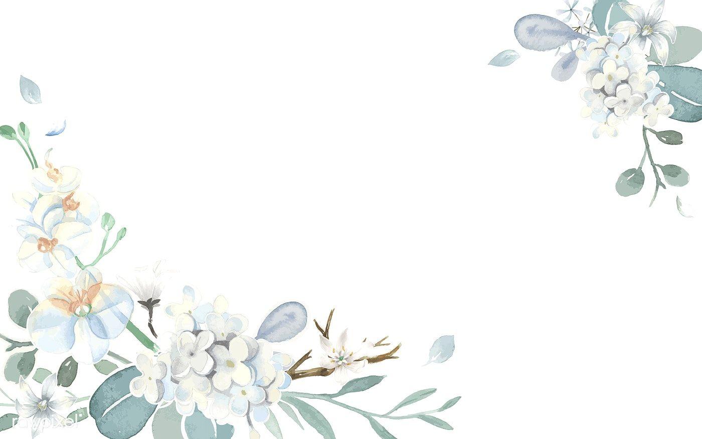Download Premium Vector Of Invitation Card With A Light Blue Theme 466708 Lukisan Bunga Lukisan Cat Air Kartu Pernikahan