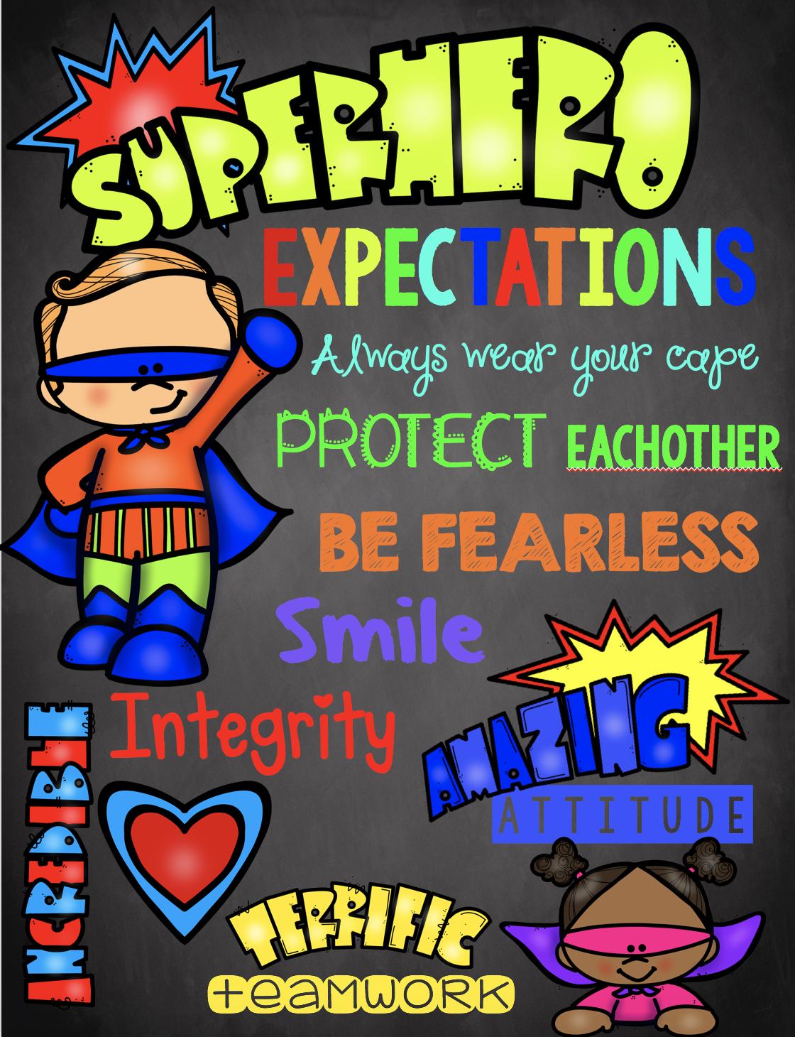 Superhero Teacher Appreciation