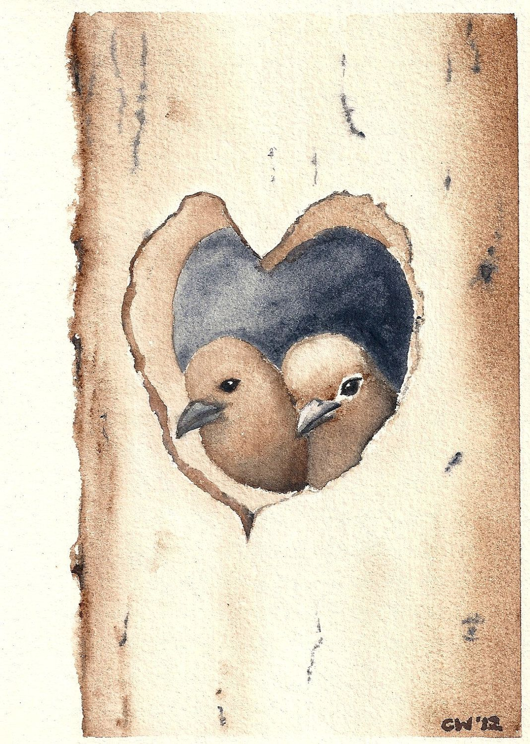 love nest for the birds pinterest nest bird and watercolor