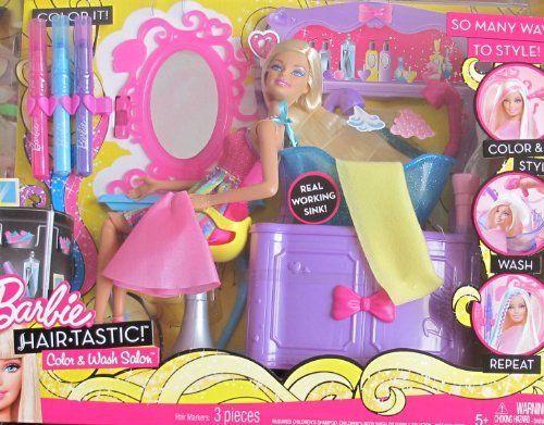 Barbie Hair Tastic Color Wash Hair Salon Playset W Barbie Doll Working Sink More 2010 By Mattel 159 99 Barbie Hair T Barbie Hair Barbie Dolls Barbie