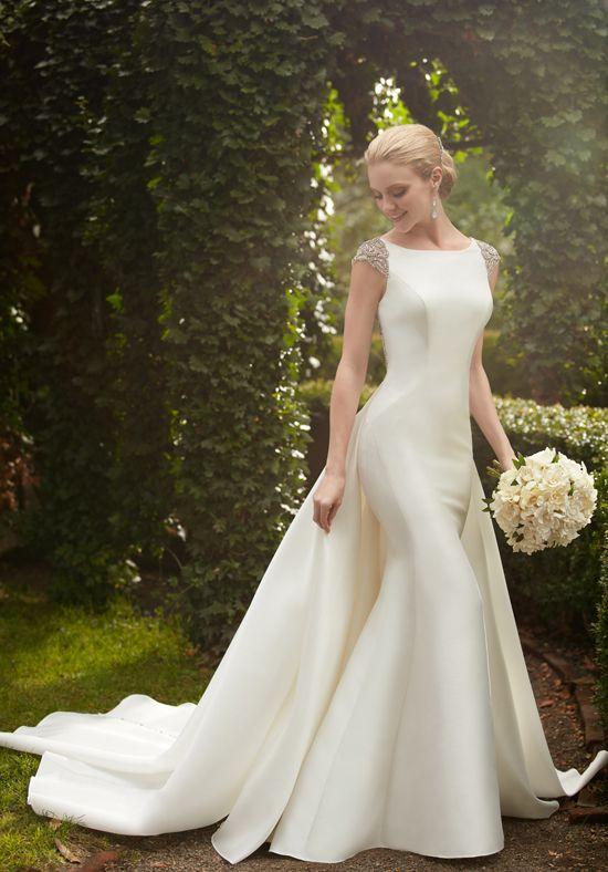 Dramatic Silk Sheath Wedding Dress | Style 843 by Essence of ...