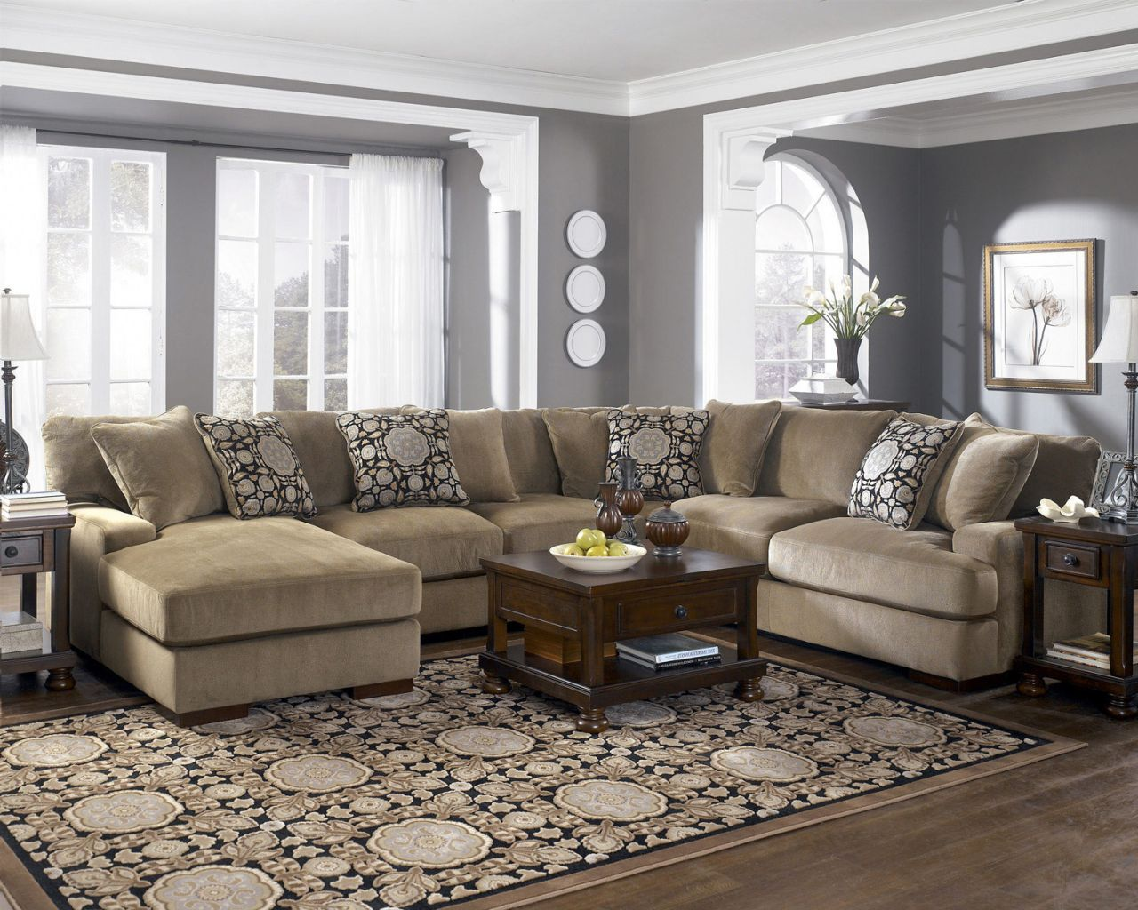 4-piece Grenada Sectional with Left Facing Chaise, Ashley | Home ...