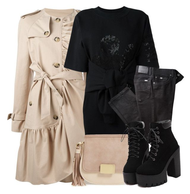 """Trench Coat"" by cayla-dy ❤ liked on Polyvore featuring Boutique Moschino, Moschino, BRAX and Emperia"