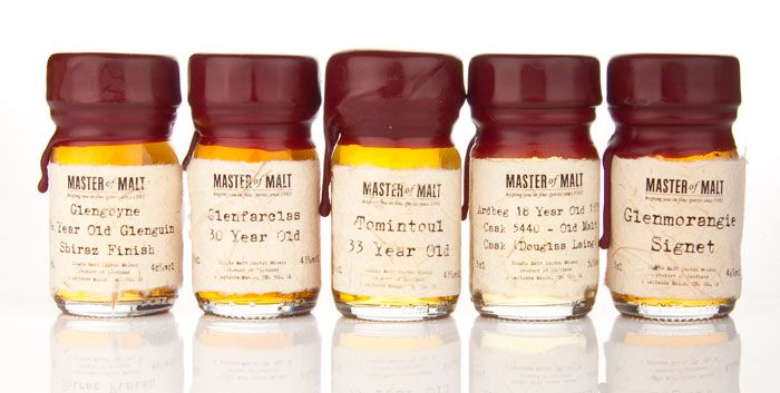 Master Of Malt Drinks By The Dram Sample Set Bourbon Tasting