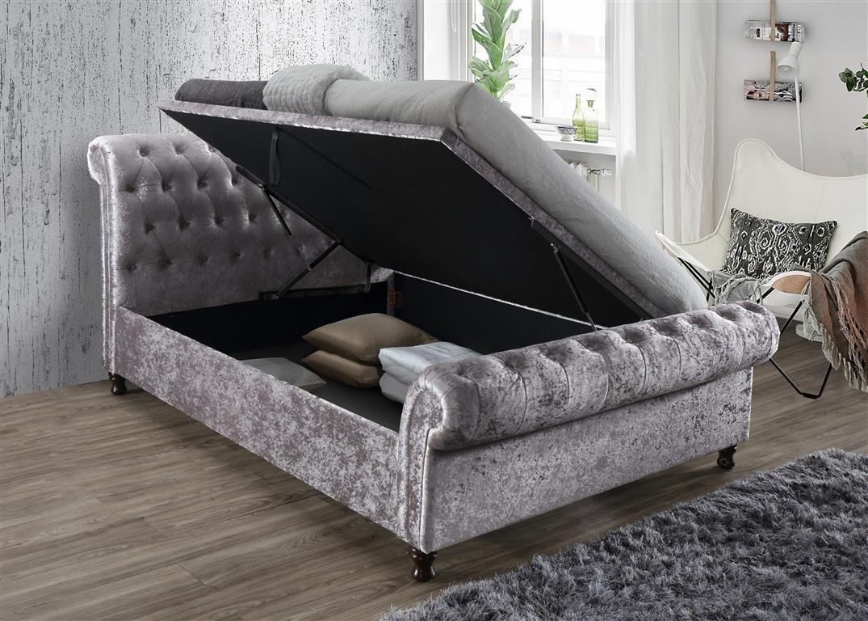 Marvelous Birlea Furniture Castello Side Ottoman Bed Crushed Velvet Forskolin Free Trial Chair Design Images Forskolin Free Trialorg