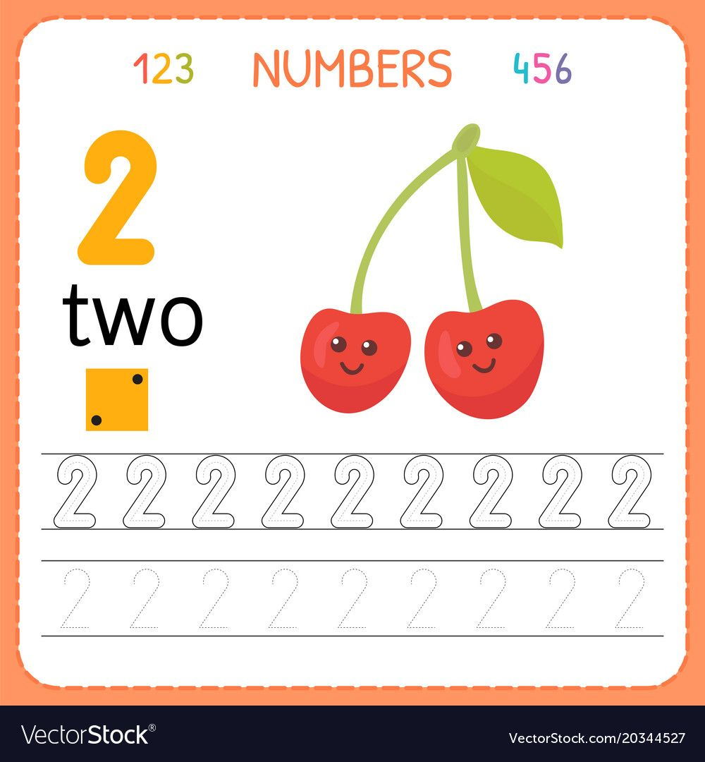 Numbers Tracing Worksheet For Preschool And Vector Image On Vectorstock Tracing Worksheets Preschool Pattern Games Preschool Pattern Activities [ 1080 x 1000 Pixel ]