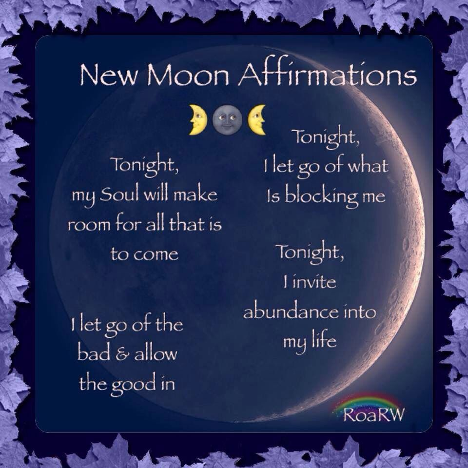 New Moon Affirmation To Be Said On The Night Of The New Moon