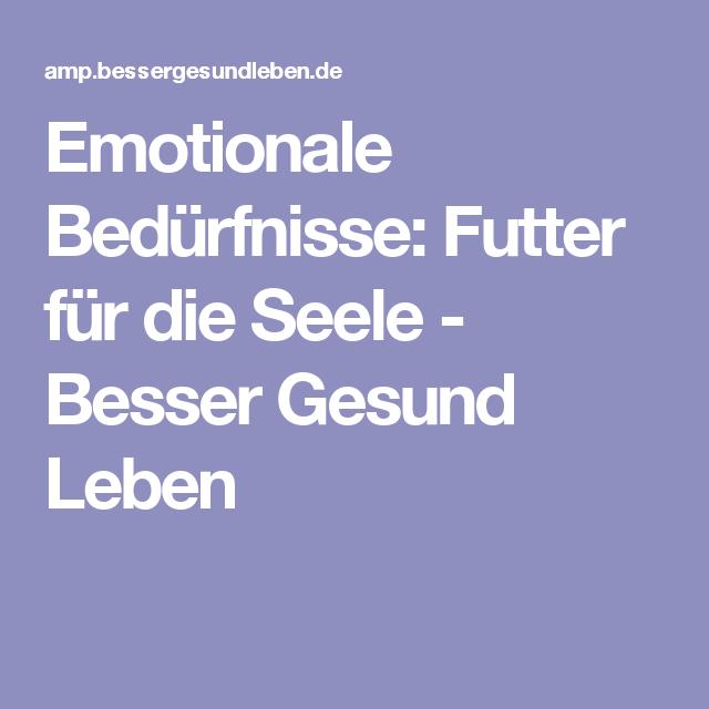 Emotionale bedürfnisse
