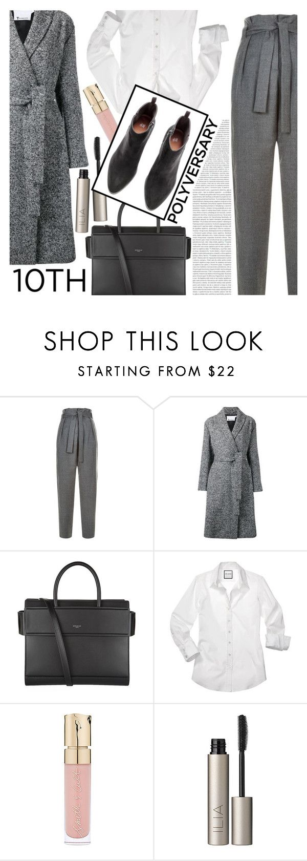 """""""Celebrate Our 10th Polyversary!"""" by valentin-bossio ❤ liked on Polyvore featuring Maje, Alexander Wang, Givenchy, Smith & Cult, Ilia, Oris, GetTheLook, polyversary, contestentry and fashionset"""