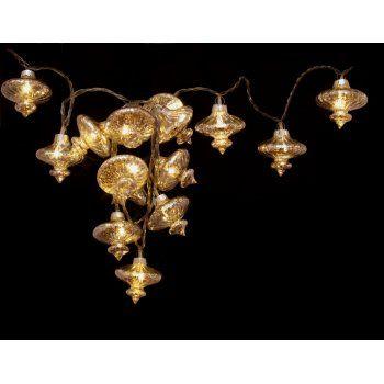 moroccan inspired lighting. Kasbah Silver String Lights : Moroccan LED Fairy Inspired Lighting
