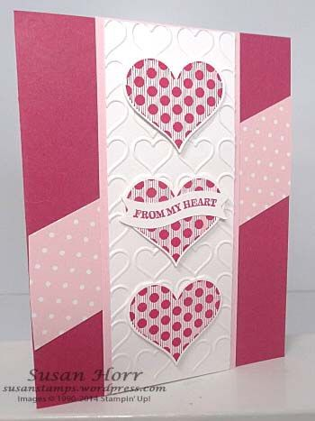Groovy Love, Happy Hearts Embossing Folder, 2015 Occasions Catalog, Stampin up, susanstamps.wordpress.com