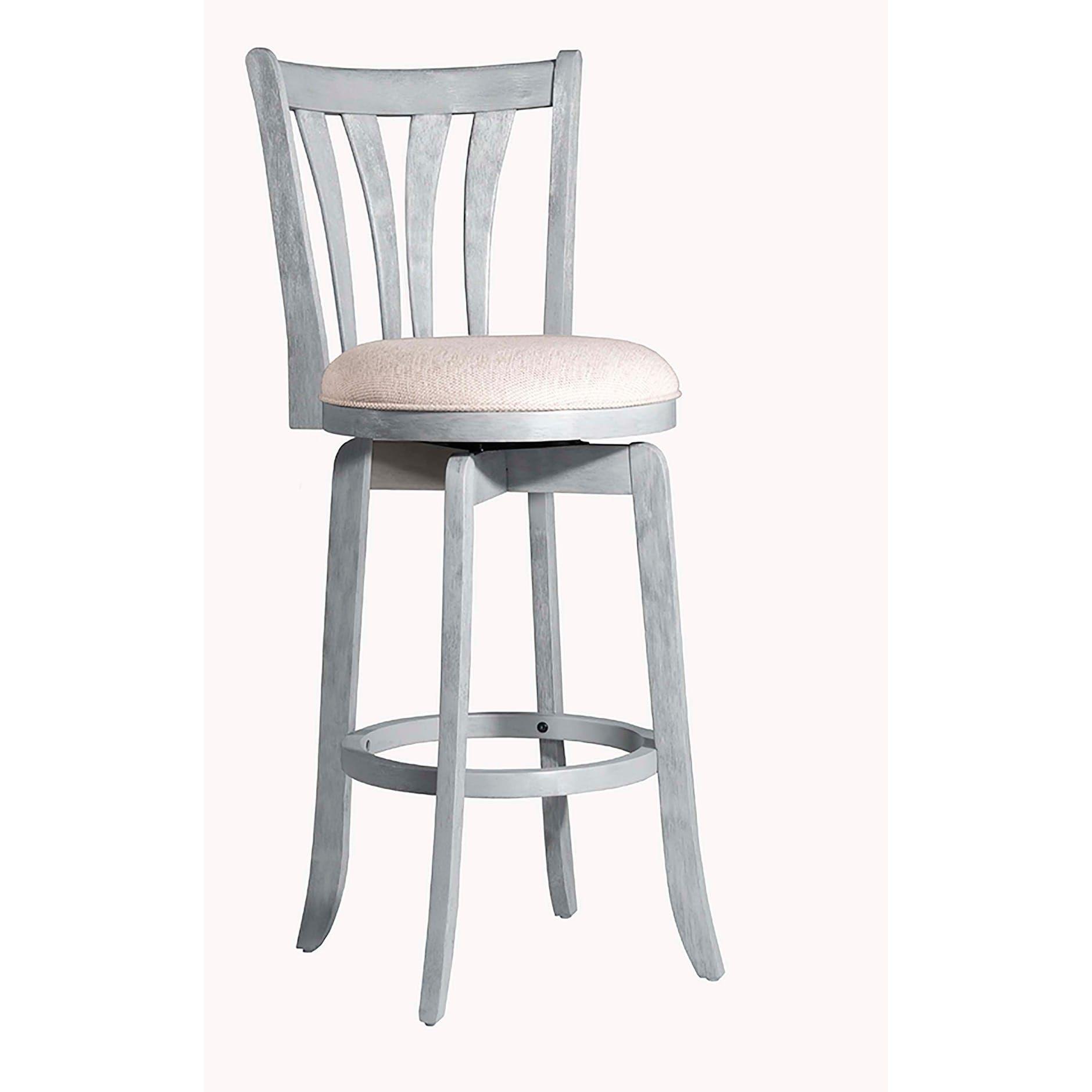Hilale Furniture Savana Blue 30 Inch Swivel Bar Stool Wirebrush Modern Clic 40 To 44 Inches Wood Fabric
