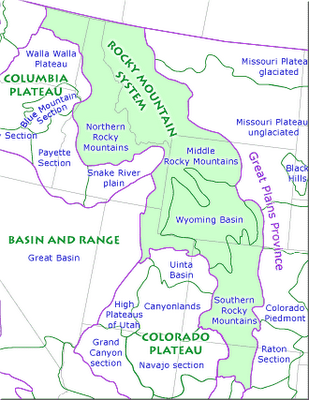 Southern Rocky Mountain Map Area MAPS Info Fun Pinterest - Rocky mountains on the us map