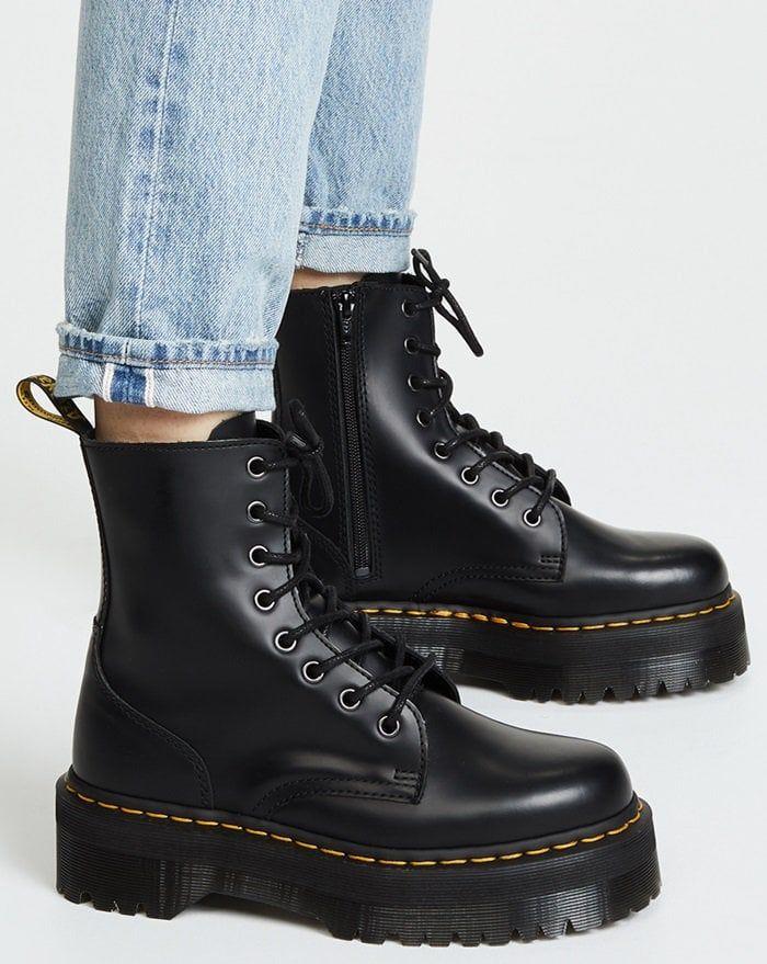 e7832ca0 Dr. Martens Jadon 8 Eye Boots | Plateaus | Dr martens schuhe, Schuhe y Dr.  martens