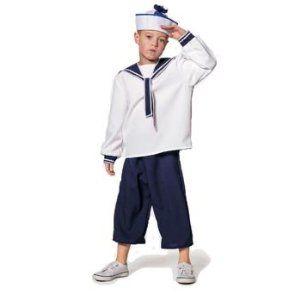 Stag Night 3 PC Set UK Adults Navy Sea Sailor Uniform Marine Fancy Dress Hen