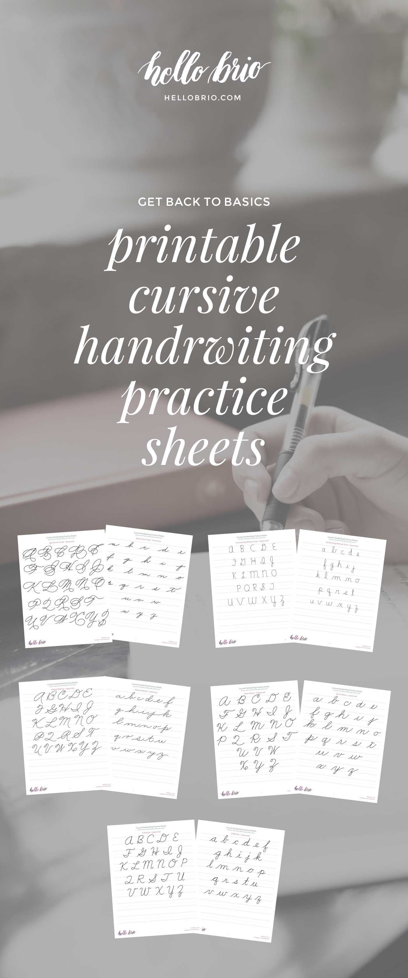 Discover Your Hand Lettering Style With Cursive