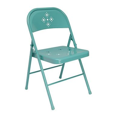 Shin Crest Decorative Metal Folding Chair  Teal or BlackShin Crest Decorative Metal Folding Chair  Teal or Black   Mabry  . Decorative Folding Chairs. Home Design Ideas