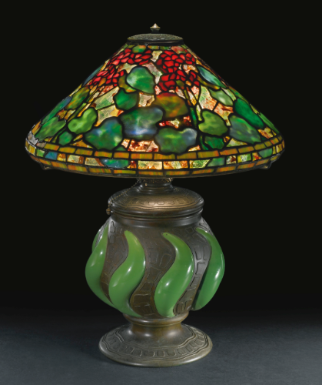 Tiffany Studios Table Lamp With An Early And Rare