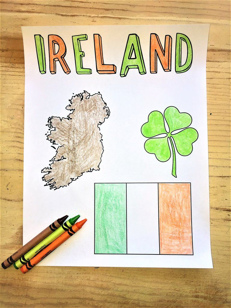 FREE Ireland Coloring Page | Bible Coloring Pages | Pinterest | Ireland