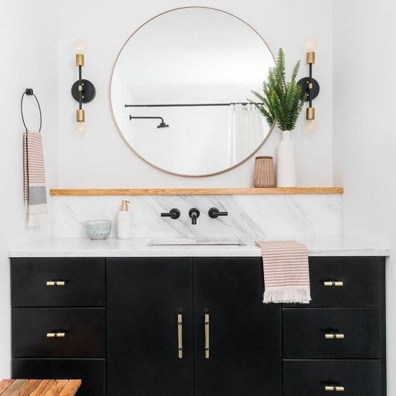 Photo of Modern Black & Brushed Nickel Light – Linear Wall Sconce – Silver Mid Century – Art Deco – Craftsman – Bathroom Vanity – Minimalist Light
