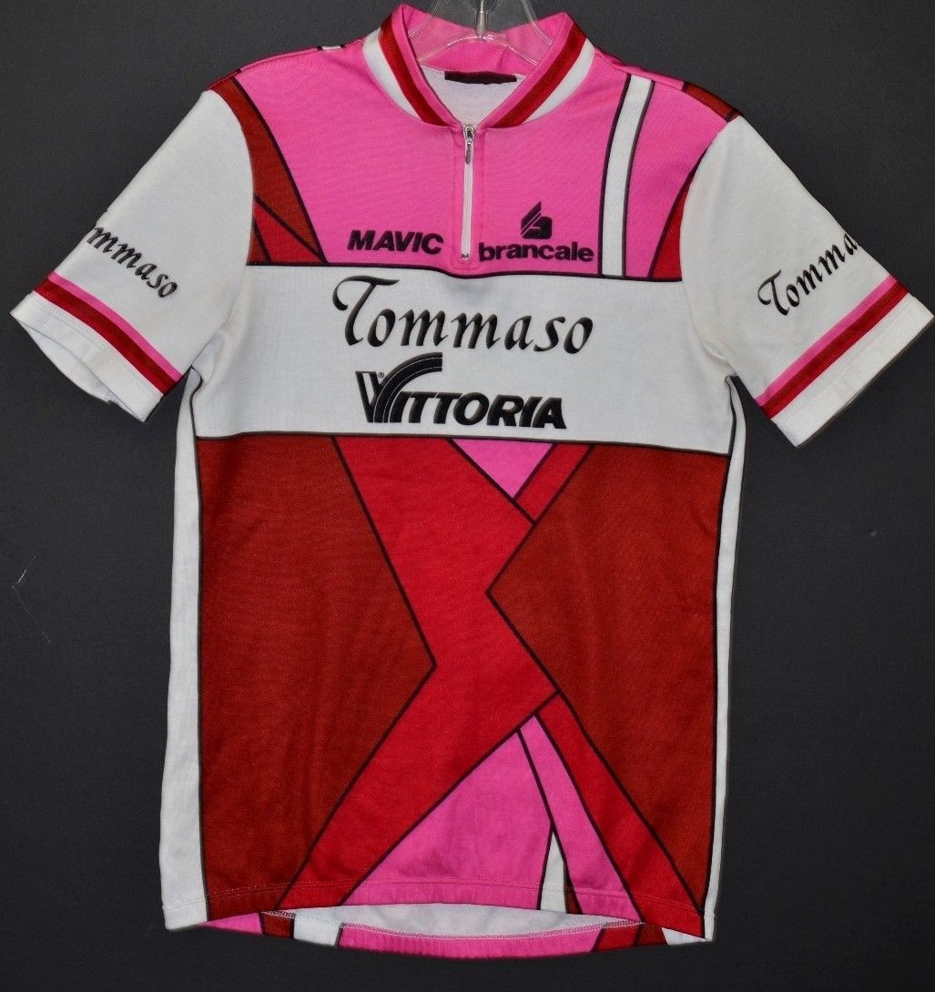 Nice Vintage Cycling Jersey Team Vittoria by Tommaso Mens Size 3 Made in  Italy  1cb227566