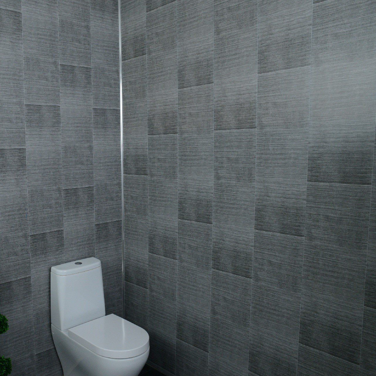 Dark Grey Bathroom Wall Panels Large Tile Effect Small Tile Effect Cladding Panels Kitchen Shower Wetr Gray Bathroom Walls Grey Bathrooms Cladding Panels